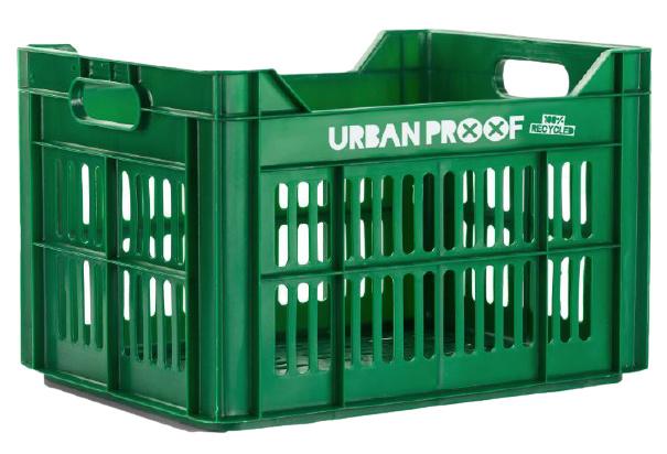 Urban Proof fietskrat 30 liter polypropyleen groen