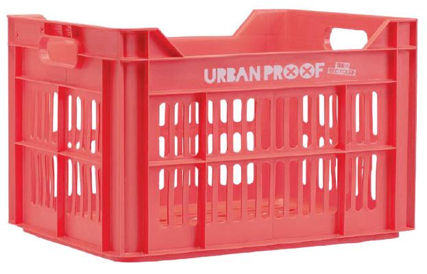 Urban Proof fietskrat 30 liter polypropyleen rood/roze