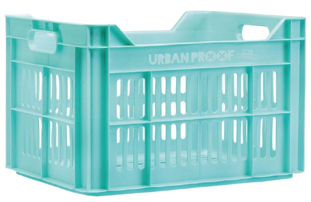 Urban Proof fietskrat 30 liter polypropyleen oceaan blauw
