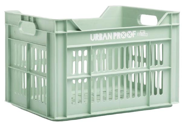 Urban Proof fietskrat 30 liter polypropyleen oud groen