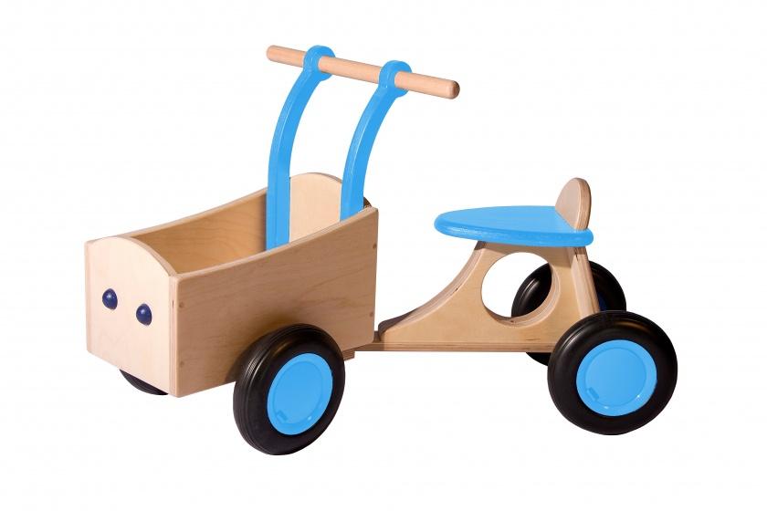 Van Dijk Toys loop bakfiets Junior Lichtblauw