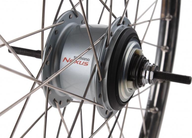 Van Schothorst achterwiel 26 inch 36G rollerbrake aluminium zilver