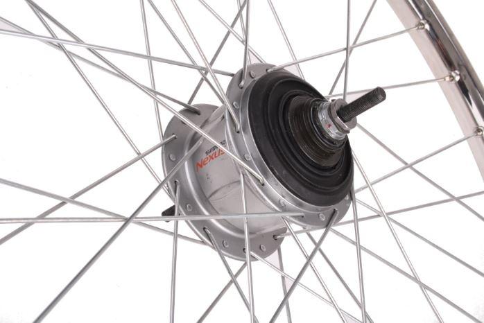 Van Schothorst Achterwiel 26x1 3/8 rollerbrake aluminium 36t zilver