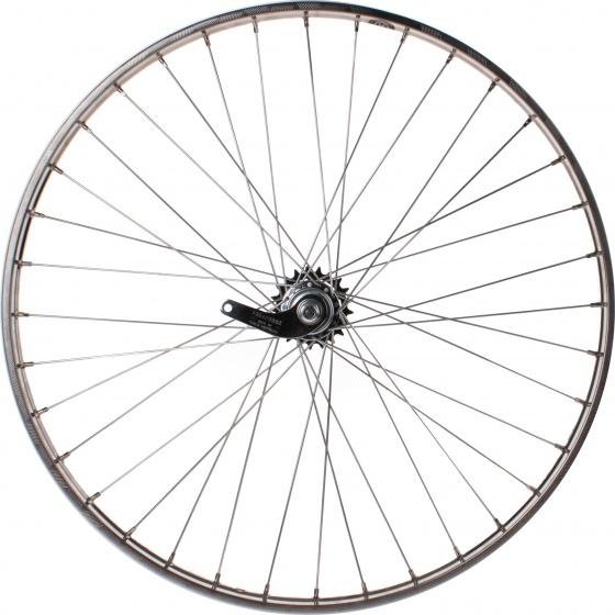 Van Schothorst achterwiel 28 inch terugtraprem 36G aluminium zilver