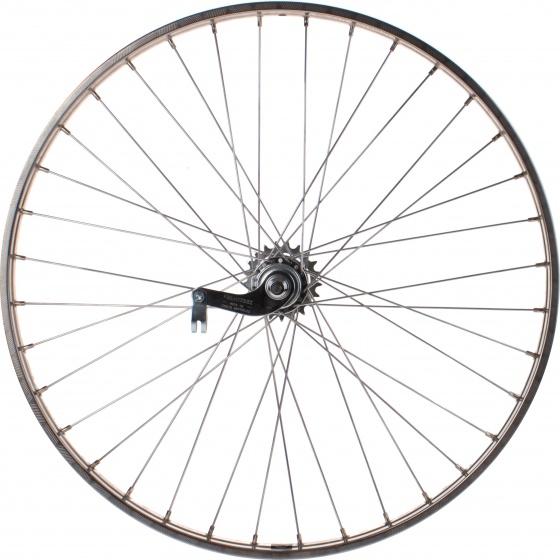 Van Schothorst achterwiel 26 inch terugtraprem 36G zilver
