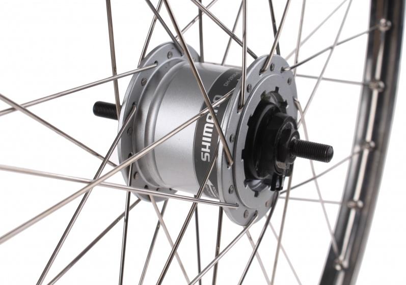 Van Schothorst voorwiel 28 inch rollerbrake 36G alu/RVS zilver