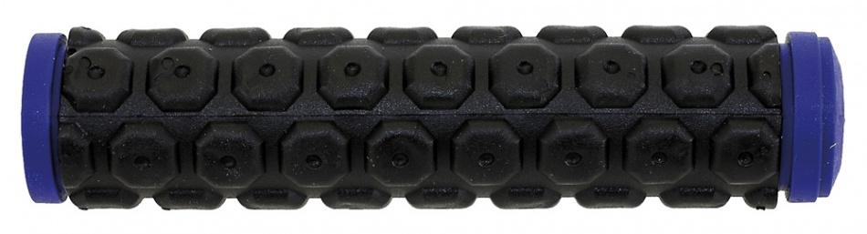Velo Handvat D2 Knoppen 130 mm Zwart Blauw Per Paar