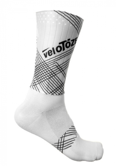 veloToze fietssokken Aero Sock nylon wit maat L/XL