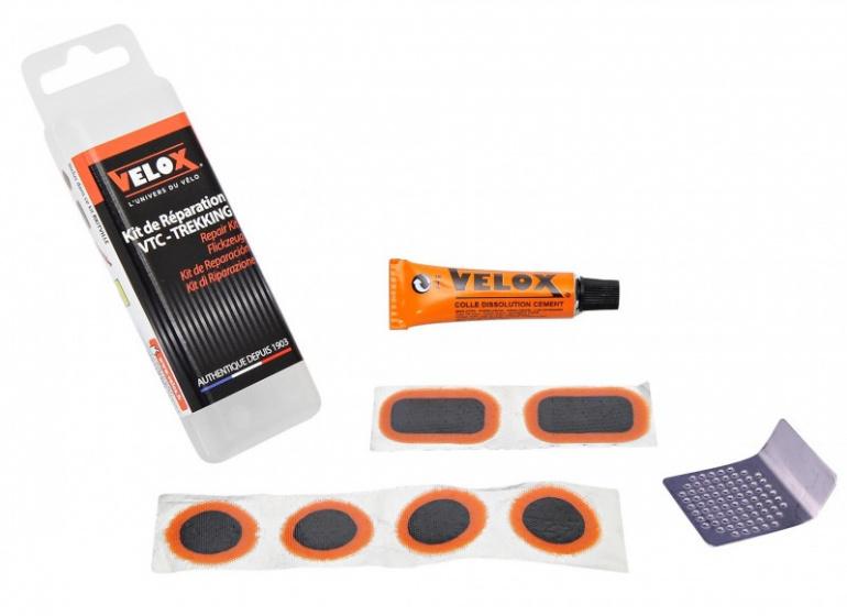 Velox bandreparatieset ATB/MTB zwart/oranje 7 delig