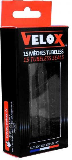 Velox reparatieset Tubeless rubberpluggen 15 delig zwart