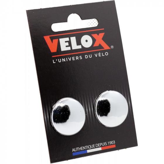 Velox stuurdoppen 20 mm chroom 2 stuks