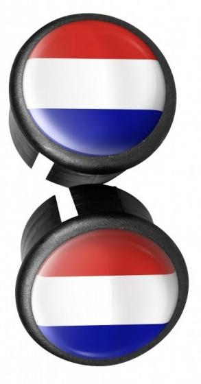 Velox stuurdoppen NL/FR 20 mm rood/wit/blauw 2 stuks