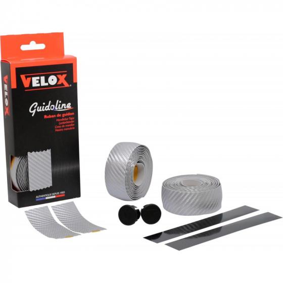 Velox stuurlintset Teckno carbon look 3 cm x 1,75 m 6 delig