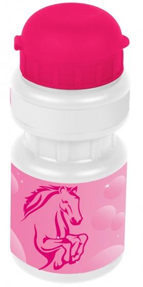 Korting Ventura Bidon Met Houder Paard 300 Ml Meisjes Roze wit