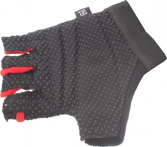 Ventura fietshandschoenen Gel polyurethaan rood/zwart maat XL