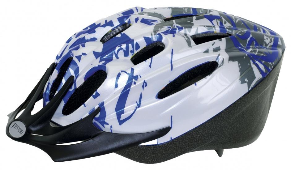 Ventura Helm Kind Blauw Wit Maat 53/57 cm