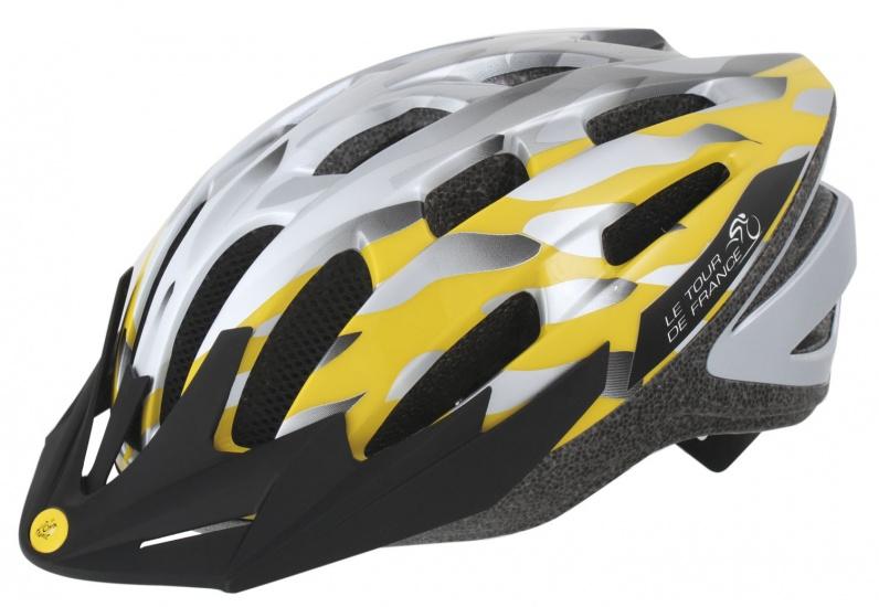 Ventura Fietshelm Tour De France Geel/Grijs Maat 54 58 cm (M)