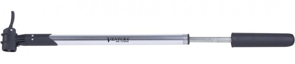 Ventura Fietspomp Dubbel Kopstuk Zilver Klemafstand 460 530 mm