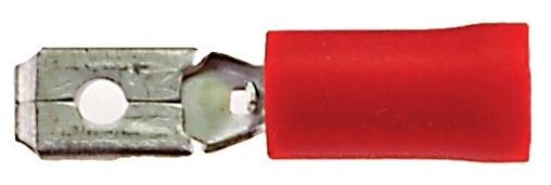 Bofix Kabelschoen / Stekker Man Plat 4.8mm Rood (25 Stuks) (246225)