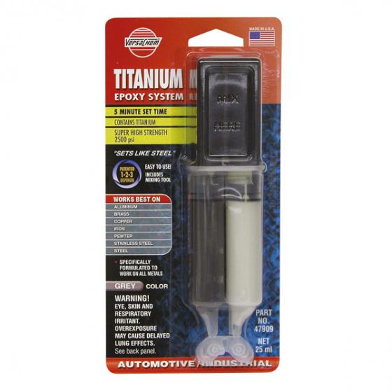 VersaChem tweecomponentenlijm Titanium 5 zwart 25 ml