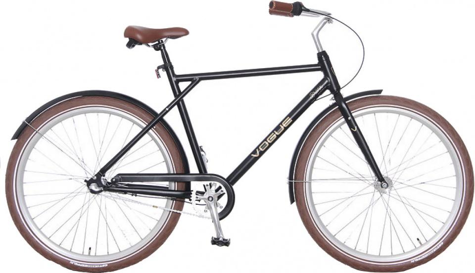 Vogue Bronx 28 Inch 56 cm Heren 3V Rollerbrake Matzwart