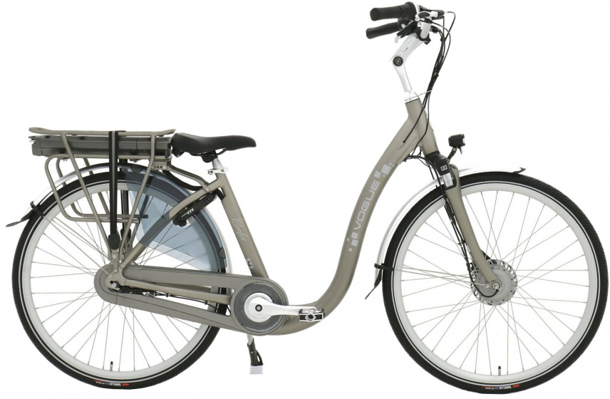 Vogue Comfort 28 Inch 46 cm Dames 7V Rollerbrake Matgrijs - Elektrische fiets