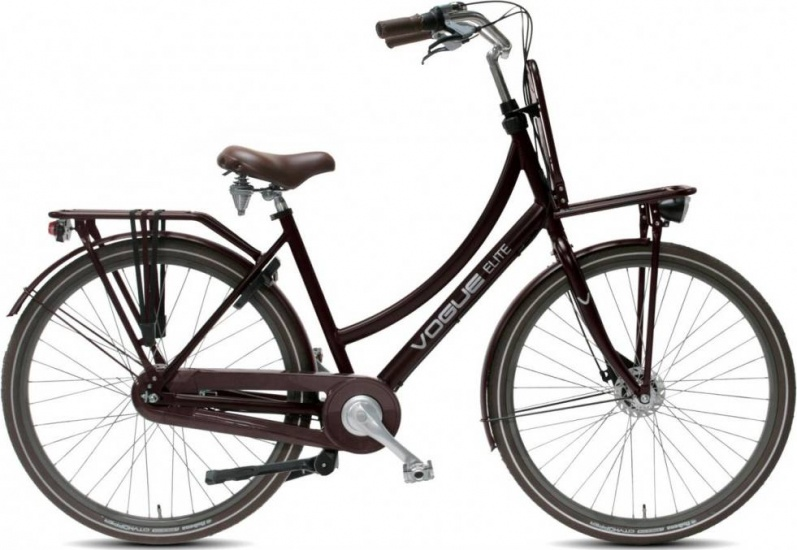 Vogue Elite Plus 28 Inch 57 cm Dames 3V Rollerbrake Bruin