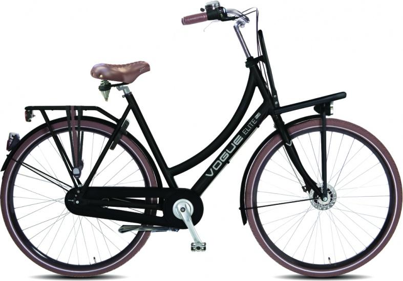 Vogue - Elite Plus 28 Inch 50 Cm Dames 7v Rollerbrake Matzwart