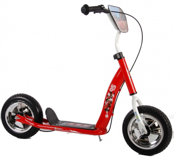 Volare - Autoped Cars 10 Inch Junior Trommelrem Rood