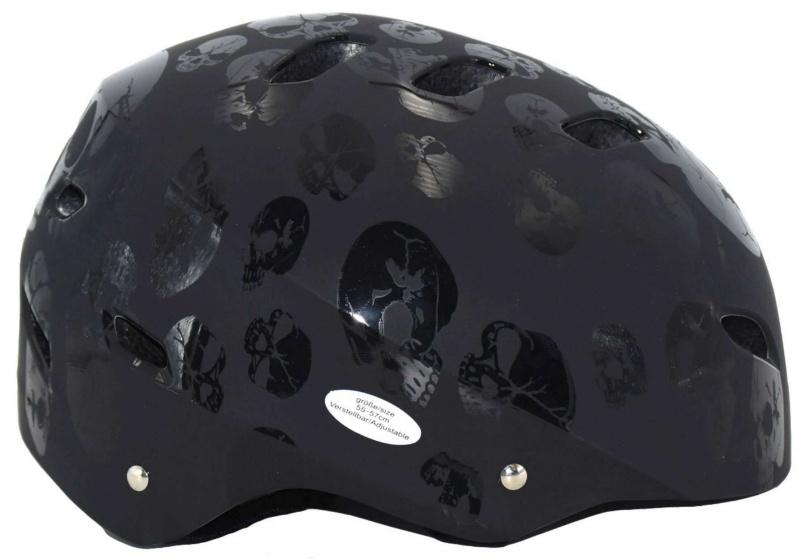 Korting Volare Helm Skull Junior Polycarbonaat Zwart Mt 55 57 Cm