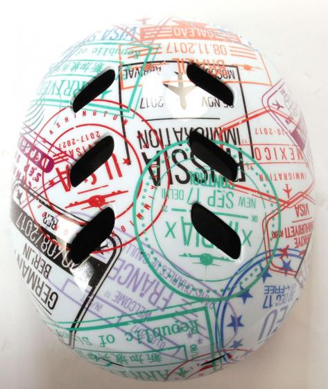 Volare helm Travel the World junior 55 57 cm polycarbonaat