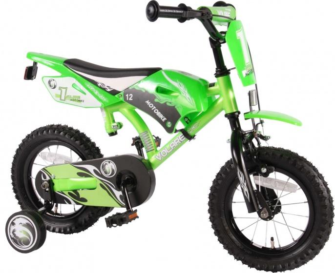 Volare - Motobike 12 Inch 21,5 Cm Jongens Terugtraprem Groen