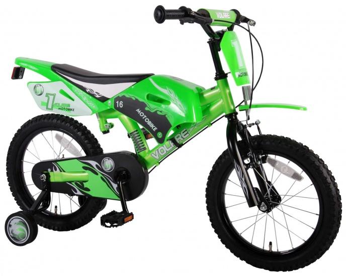 Volare Motobike 16 Inch 25,5 cm Jongens V Brake Groen