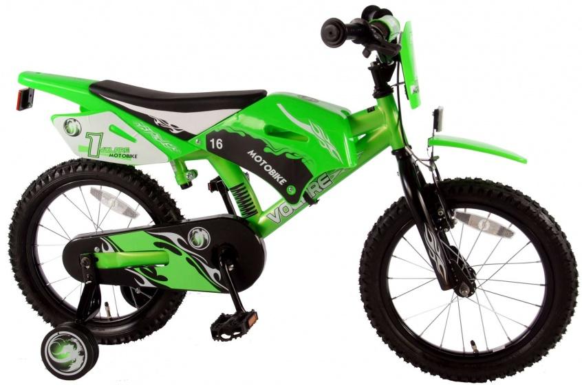 Volare – Motobike 16 Inch 25,5 Cm Jongens V-brake Groen
