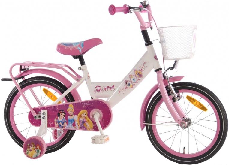 Volare - Princess 16 Inch 25 Cm Meisjes Terugtraprem Wit/roze
