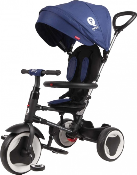 Qplay - Rito Deluxe Junior Zwart/blauw