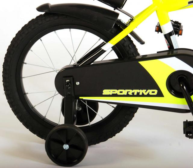 Volare Sportivo 16 Inch 25,4 cm Jongens V Brakes Zwart/Geel