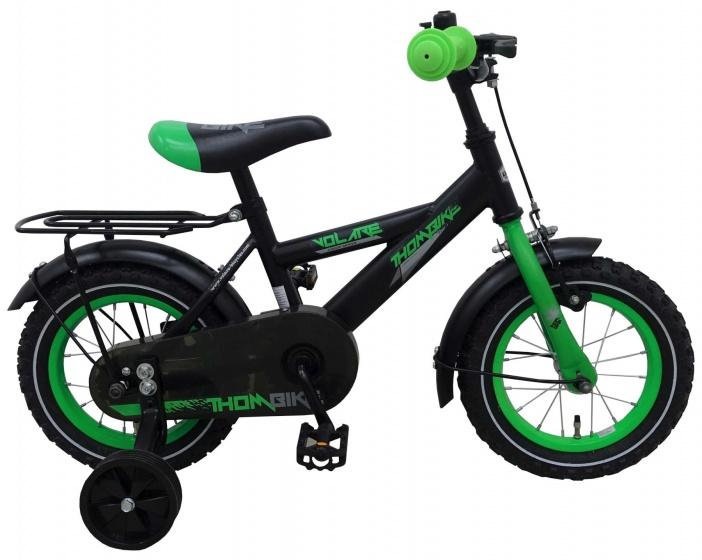 Volare Thombike 14 Inch 23,5 cm Jongens Terugtraprem Zwart/Groen