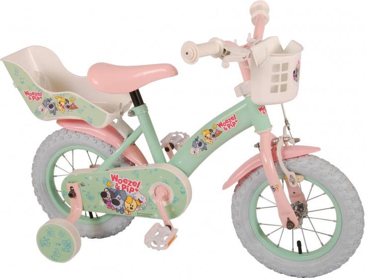 Volare - Woezel & Pip 12 Inch 21,5 Cm Meisjes Terugtraprem Mintgroen/roze