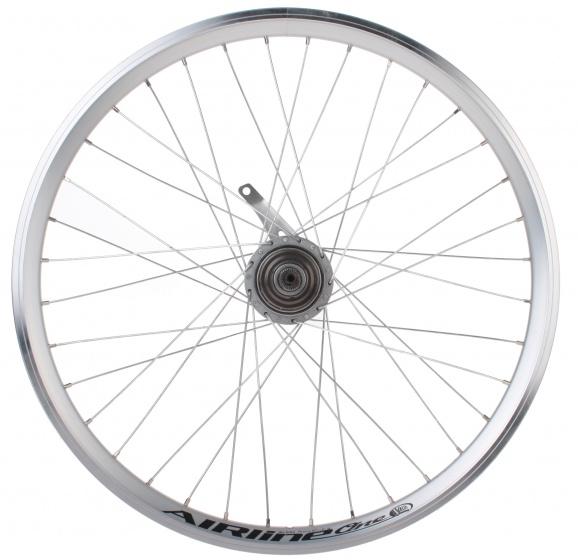 Vuelta achterwiel Airline One 24 inch terugtraprem 36G staal zilver