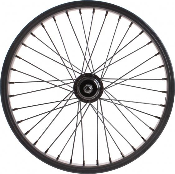 VWP achterwiel freewheel 16 x 1.75 inch velgrem aluminium zilver