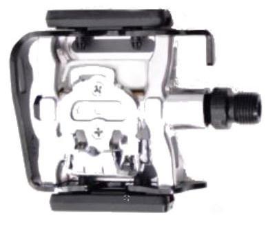 VWP Half Klikpedaal MTB SPD X 83 9/16 Inch zwart zilver set