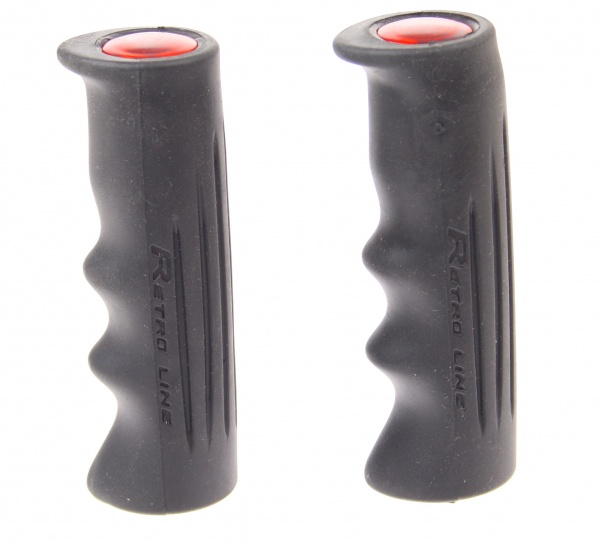 VWP Handvat Retro Line Met Reflectie Zwart 110mm Per Paar