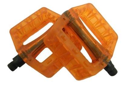 VWP Platformpedaal BMX Clear 9/16 Inch oranje per set