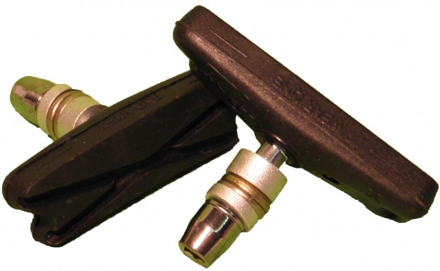 VWP remblokken V brake 70 x 18 mm zwart 2 stuks