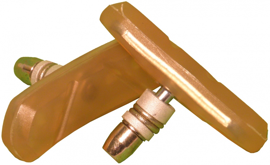 VWP remblokken V brake 70 x 22 mm geel 2 stuks