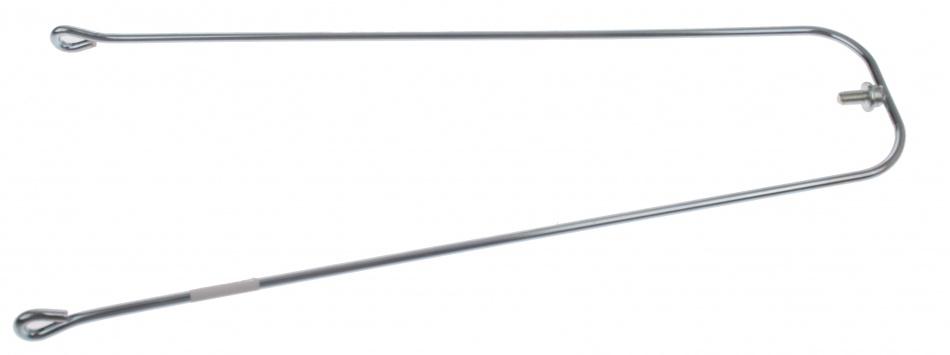 VWP Spatbordstang Met Inox Bevestiging Staal 20 Inch Zilver