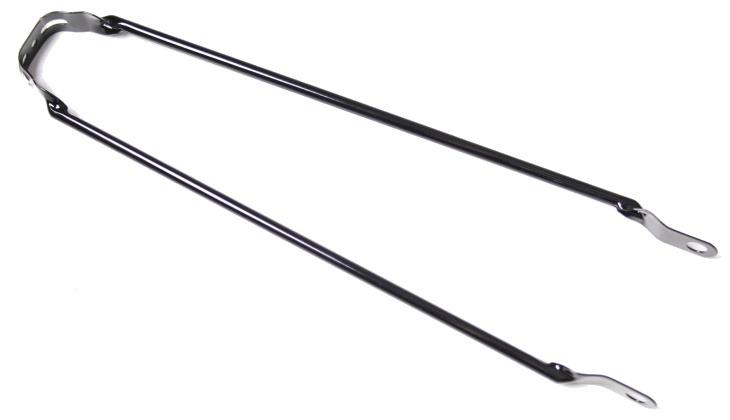 VWP Spatbordstang Met PAD Bevestiging Staal 28 Inch Zwart