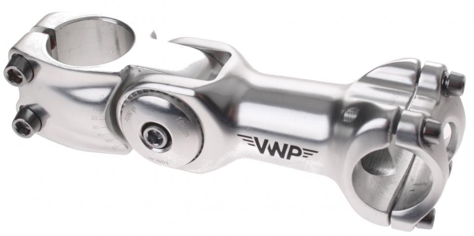 VWP stuurpen voorbouw verstelbaar 31,8/110/28,57 mm zilver