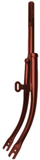VWP voorvork ER13F vast 28 inch 1 inch staal bruin